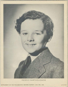 Freddie Bartholomew 1936 Date Philadelphia Record Newspaper Supplement Photo M23