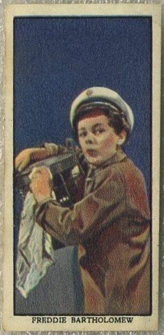 Freddie Bartholomew 1939 Mars Confections Famous Film Stars Trading Card #11