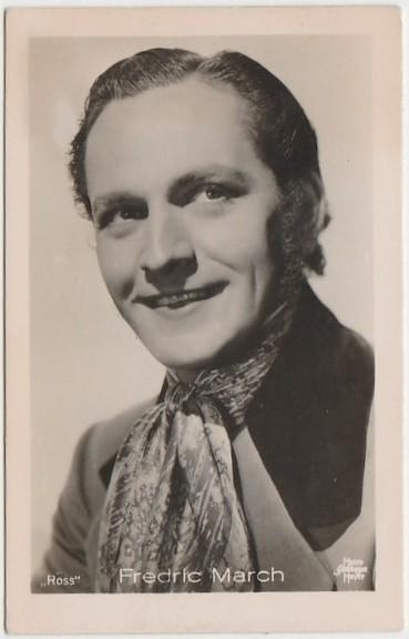 Fredric March 1930s Vintage ROSS Film Stars Real Photo Trading Card