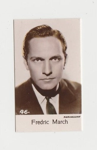 Fredric March 1935 Bridgewater Film Stars Small Trading Card - Series 4 #46