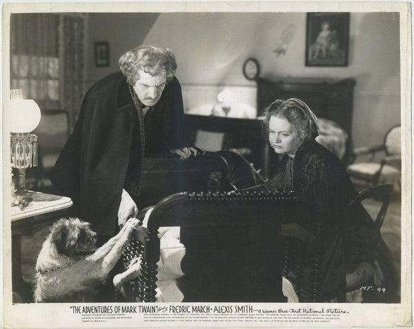 Fredric March + Alexis Smith 1944 8x10 Still Photo ADV OF MARK TWAIN - MT-99
