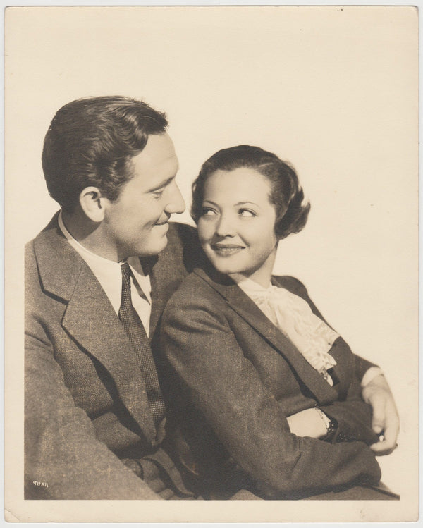 Spencer Tracy + Sylvia Sidney 1936 Matte Photo #11 Clarence Sinclair Bull Stamp