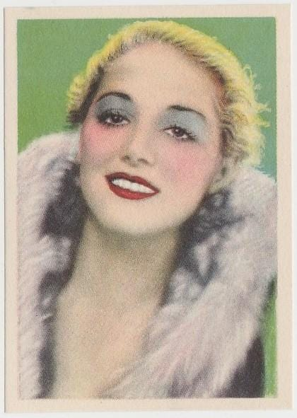 Leila Hyams 1930s Editorial Bruguera Paper Stock Trading Card #4