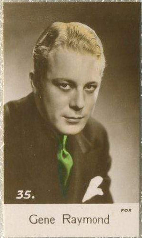 Gene Raymond 1935 Bridgewater Film Stars Small Trading Card - Series 4 #35