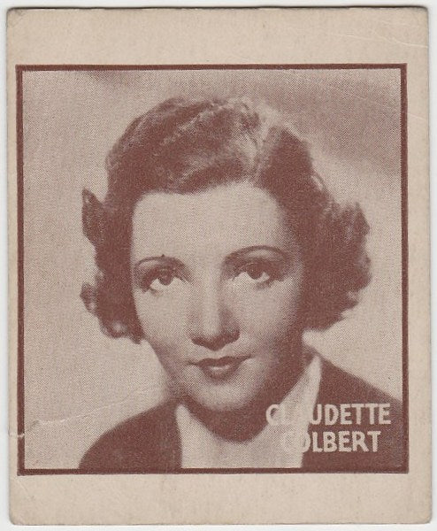 Claudette Colbert 1933 General Gum Movie Star Trading Card