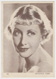 Genevieve Tobin 1930s Aguila Large Paper Stock Trading Card #120