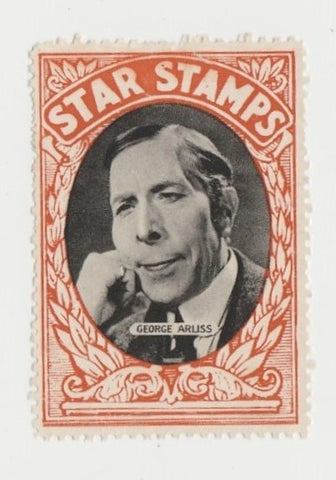 George Arliss 1930s Aguila Large Paper Stock Trading Card #58