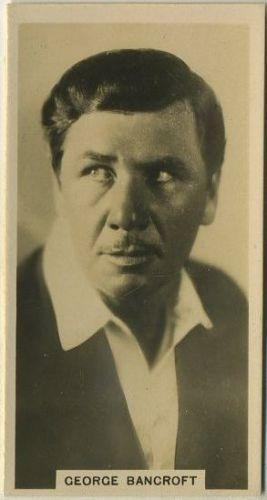 George Bancroft 1929 Carreras Paramount Stars Tobacco Card #8 Film Star