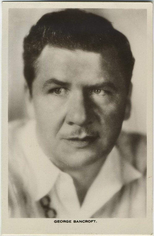 George Bancroft 1930s Real Photo Postcard - Picturegoer #432 Movie Star RPPC