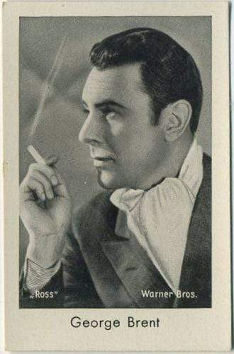 George Brent 1930s Josetti Filmbilder Movie Star Tobacco Card #742