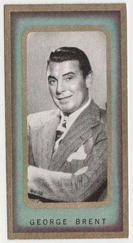 George Brent 1938 Carreras Film Favourites Tobacco Card #17 - Movie Star