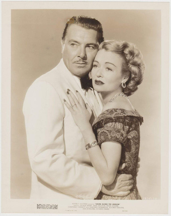 George Brent + Constance Bennett 1948 STILL PHOTO Drums Along the Amazon 1675-78