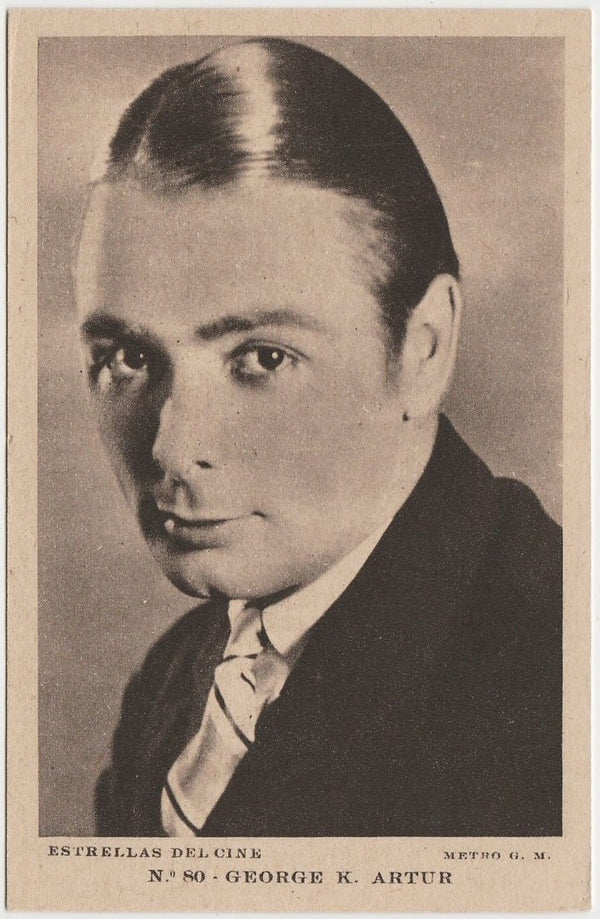 GEORGE K ARTHUR Vintage 1930s Estrellas del Cine POSTCARD from Spain #80