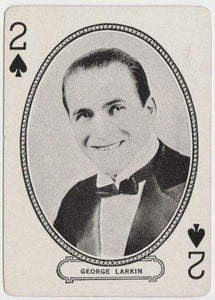 George Larkin 1916 MJ Moriarty Silent Film Star Playing Card EX+