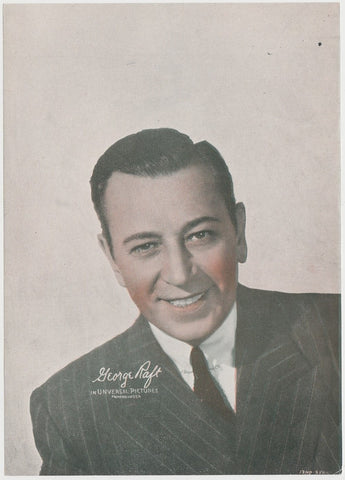 GEORGE RAFT Enciclopedia Cultural de CHICOS Trading Card 1940s Spain #A-8