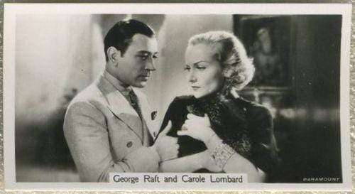 George Raft + Carole Lombard 1937 John Sinclair Film Stars Tobacco Card #67