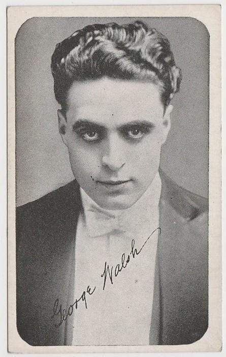 George Walsh Vintage 1910s Kromo Gravure Trading Card - Rounded Border Type