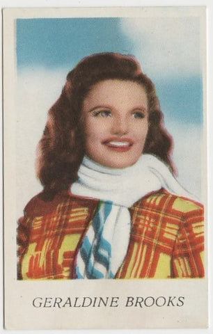 Geraldine Brooks 1940s Paper Stock Trading Card - Film Frame Design