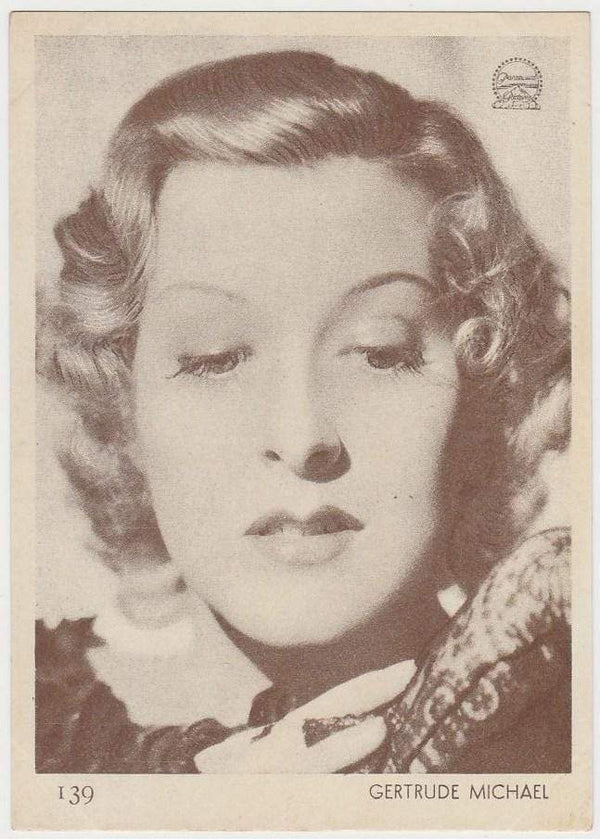 Gertrude Michael 1930s Aguila Large Paper Stock Trading Card #139