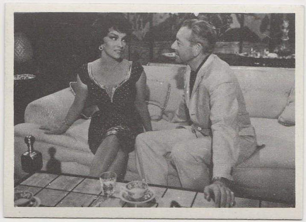 Gina Lollobrigida + Paul Henreid 1959 MGM Film Stars Trading Card from Italy #92