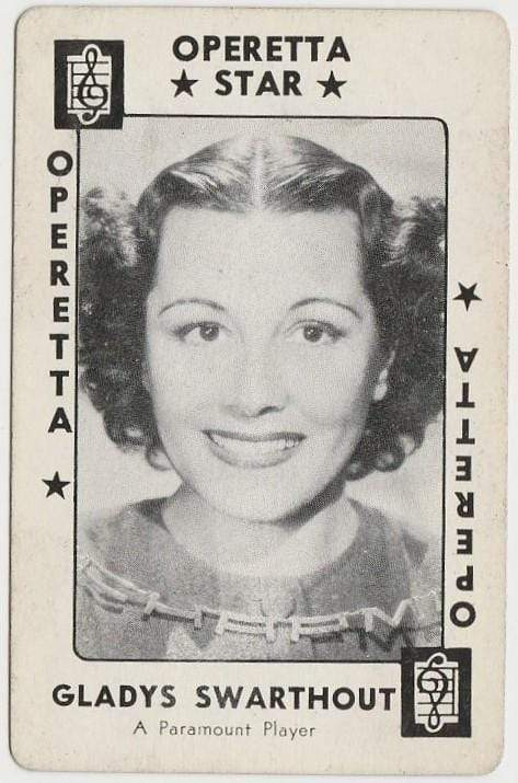 Gladys Swarthout 1938 Transogram Movie Millions Game Card - Film Star
