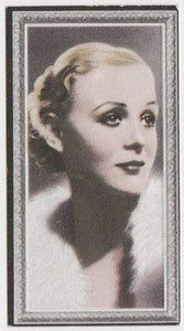 Gloria Stuart 1936 Godfrey Phillips Stars of the Screen Tobacco Card #37