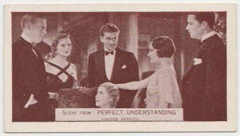 Gloria Swanson + L Olivier 1935 Ardath SCENES FROM BIG FILMS Tobacco Card #96