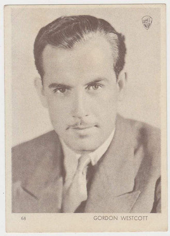 Gordon Westcott 1930s Aguila Large Paper Stock Trading Card #68