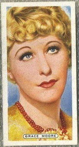 Grace Moore 1935 Ardath Film Stage and Radio Stars Tobacco Card #36