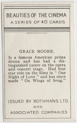 Grace Moore 1939 Rothmans Beauties of the Cinema Movie Star Trading Card