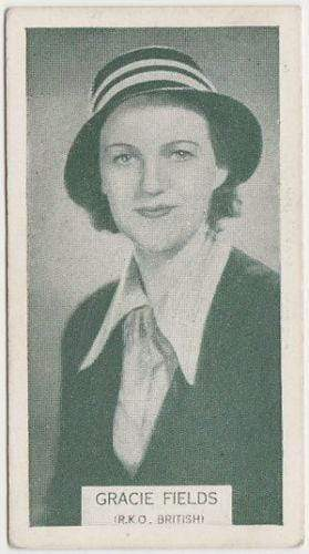 Gracie Fields 1934 Ardath British Born Film Stars Trading Card #1