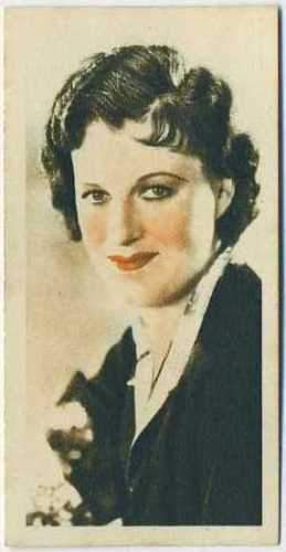 Gracie Fields 1934 Godfrey Phillips Film Stars Tobacco Card #30