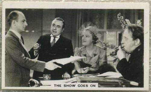 Gracie Fields 1937 Peter Jackson Tobacco Card SFTF #3 THE SHOW GOES ON