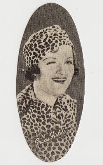 Gracie Fields 1934 Carreras Film Stars Oval Trading Card #27