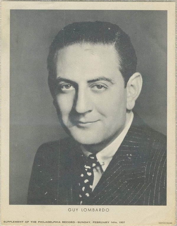 Guy Lombardo 1937 Date Philadelphia Record Newspaper Supplement Photo M23