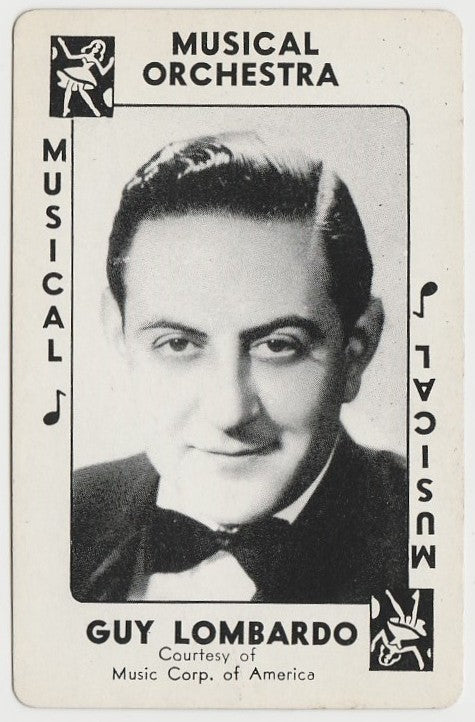 Guy Lombardo 1938 Transogram Movie Millions Game Card - Bandleader