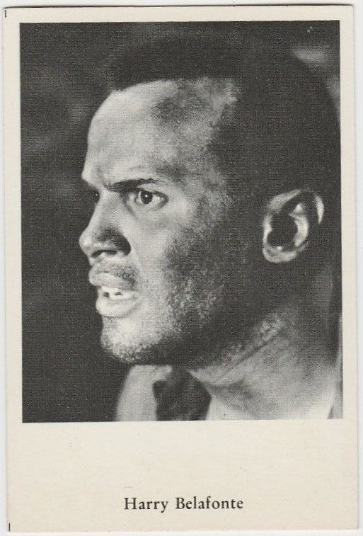 Harry Belafonte circa 1960 Vintage German Trading Card