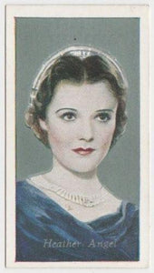 Heather Angel 1934 Godfrey Phillips Film Favourites Tobacco Card #10