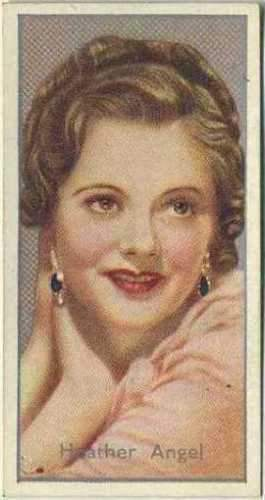 Heather Angel 1936 Carreras Film Stars by Desmond Tobacco Card #31