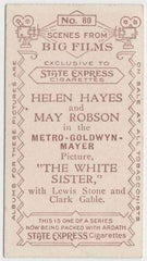 Helen Hayes + May Robson 1935 Ardath SCENES FROM BIG FILMS Tobacco Card #80