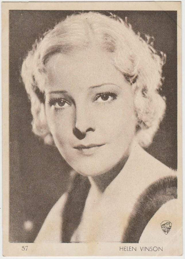 Helen Vinson 1930s Aguila Large Paper Stock Trading Card #57