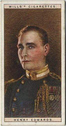 Henry Edwards 1928 Wills Cinema Stars Tobacco Card Series 2 #9