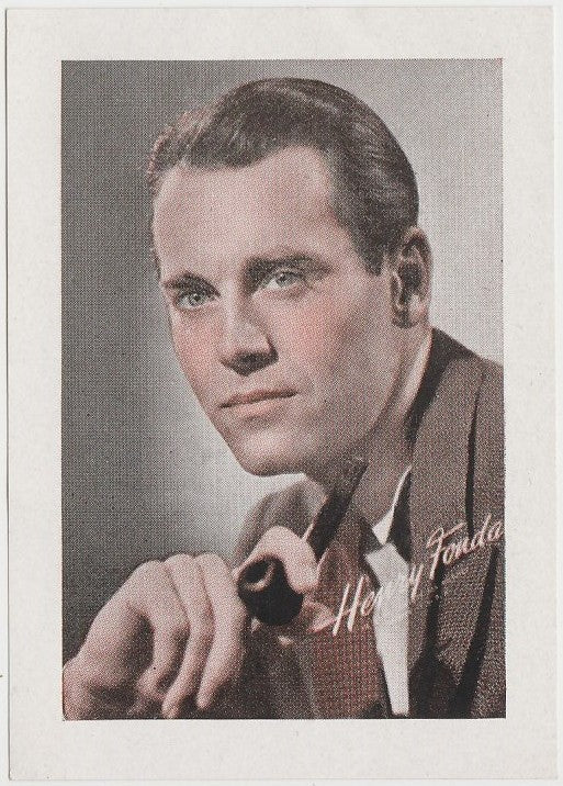Henry Fonda 1940s Vintage WW2 Era Paper Stock Trading Card or Picture