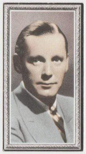 Herbert Marshall 1936 Godfrey Phillips Stars of the Screen Tobacco Card #28