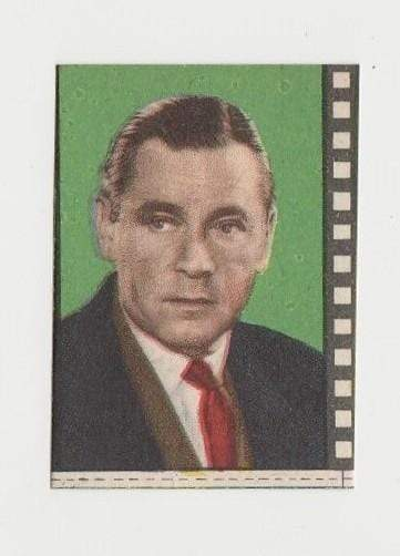 Herbert Marshall 1940s Paper Stock Trading Card - Film Frame Design