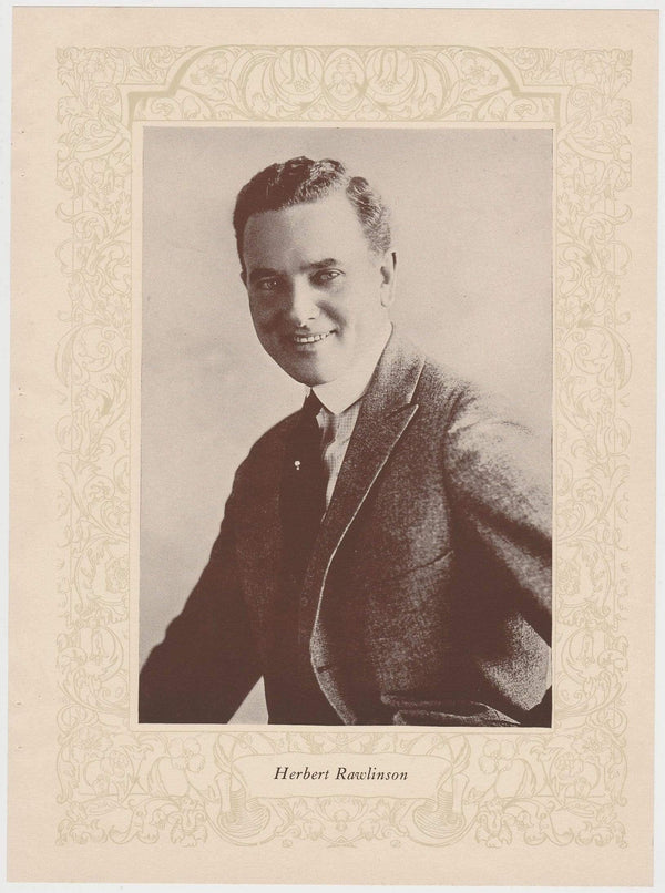Herbert Rawlinson 1923 MPDA Popular Film Folk 8 X 10.75 Printed Photo Film Star