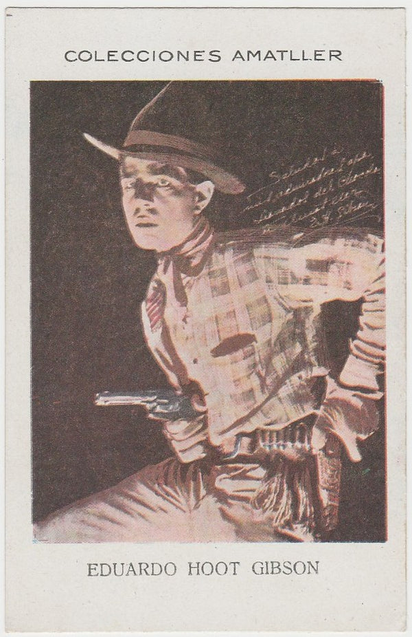 Hoot Gibson 1920s Chocolate Amatller Trading Card #AAA-67-121