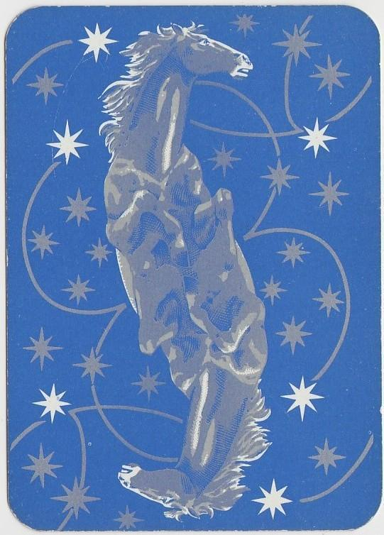 Horst Buchholz 1950s Film Star on Blue Stallion Back Playing Card