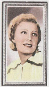 Irene Dunne 1936 Godfrey Phillips Stars of the Screen Tobacco Card #19