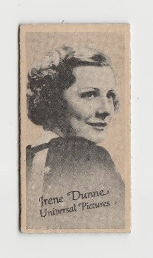 Irene Dunne 1937 Peerless Cloudy Weight Machine Trading Card